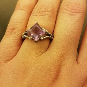 Jewelry - Vintage Sterling Silver 925 Amethyst Ring